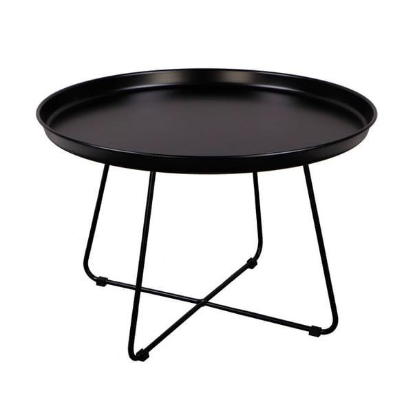 Černý konferenční stolek Nørdifra Pogorze, Ø63cm