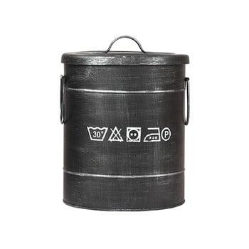 Coș metalic pentru rufe LABEL51, ⌀26cm, negru imagine