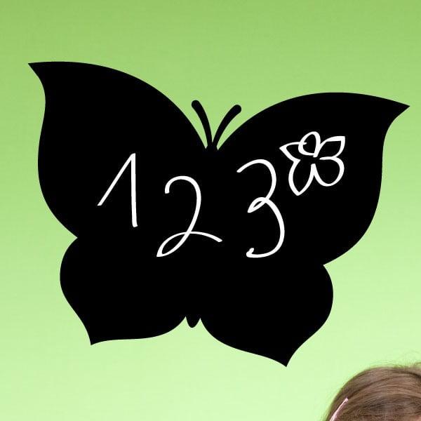 Tabulová samolepka s tekutou křídou Fanastick Black Butterfly