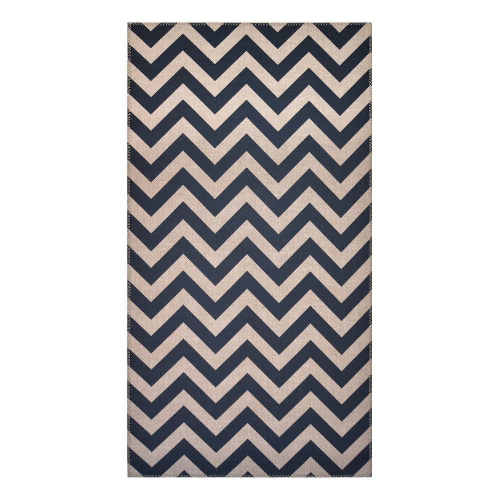 Černošedý koberec Vitaus Ryan, 80 x 150 cm