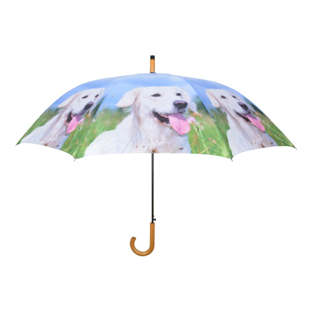 Světle modrý deštník s pejsky Esschert Design, ⌀ 120 cm
