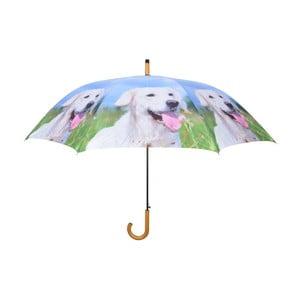 Světle modrý deštník s pejsky Esschert Design