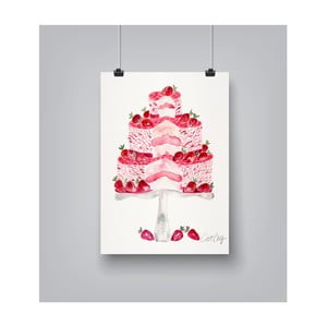 Poster Americanflat Strawberry Cake, 30 x 42 cm
