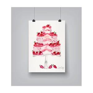 Plakát Americanflat Strawberry Cake, 30x42cm