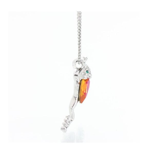 Náhrdelník se Swarovski Elements, oranžová žába