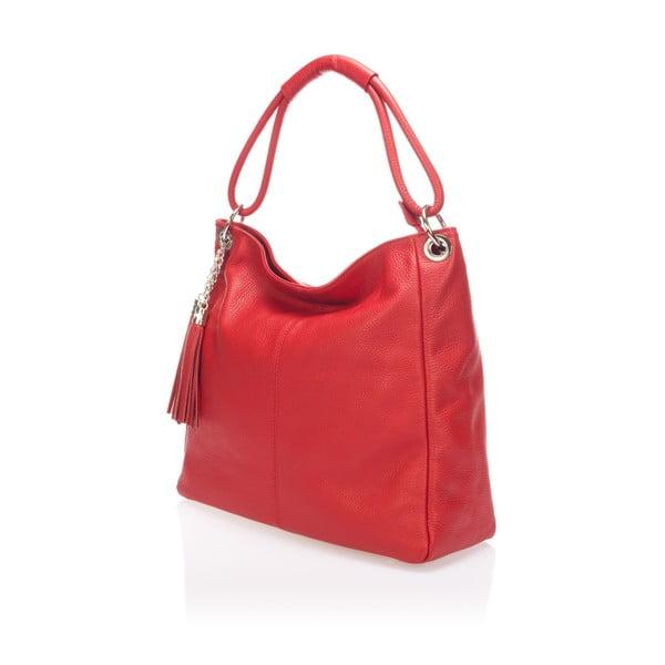 Kožená kabelka Markese 5008 Rosso