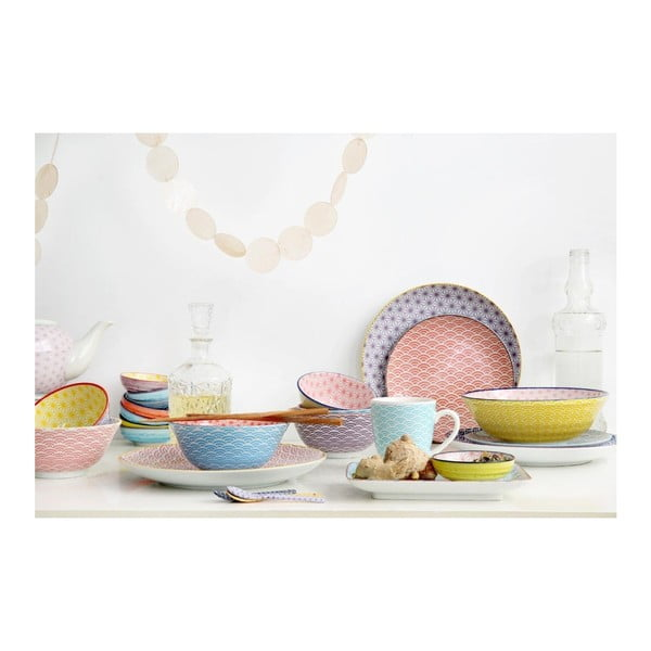Fialovožlutá porcelánová miska Tokyo Design Studio Star, ⌀12cm