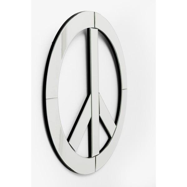 Oglindă de perete decorativă Kare Design Peace, diametru 70 cm