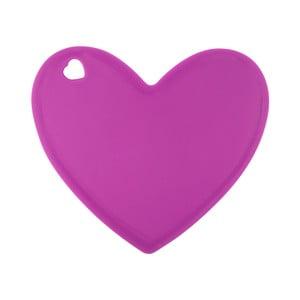Růžové silikonové prkénko ve tvaru srdce Tantitoni Lovely