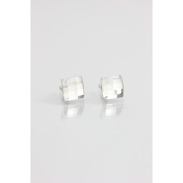 Náušnice Swarovski Crystals Laura Clear, 10x10 mm