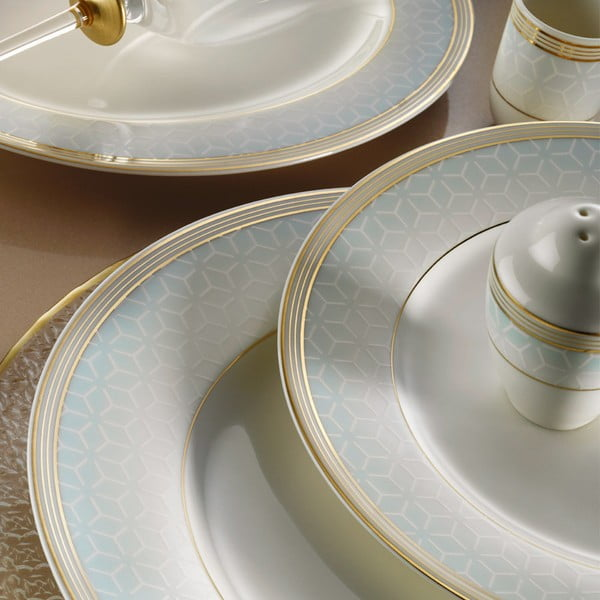 30dílná sada nádobí z porcelánu Kutahya Kristen