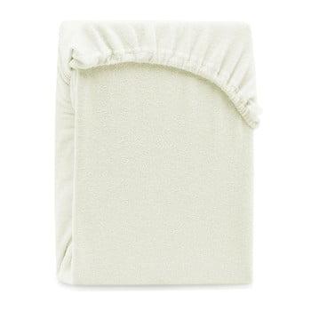Cearșaf elastic pentru pat dublu AmeliaHome Ruby Ecru, 200-220 x 200 cm, gri - bej