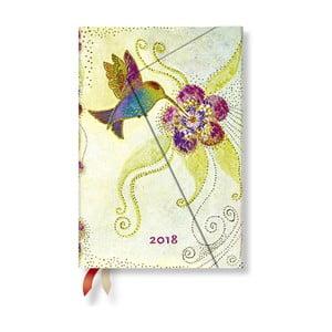 Diář na 2018 s prostorem na poznámky Paperblanks Hummingbird Mini