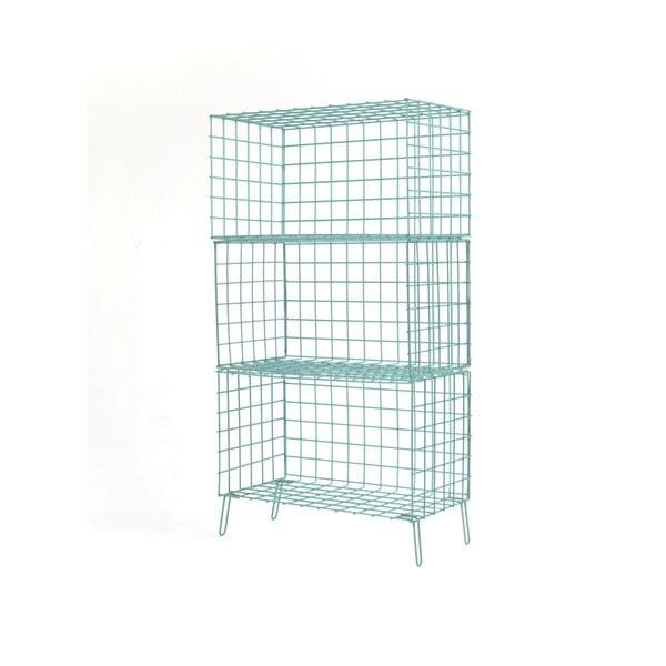 Světle modrá kovová úložná skříňka Really Nice Things, 56 x 100 cm