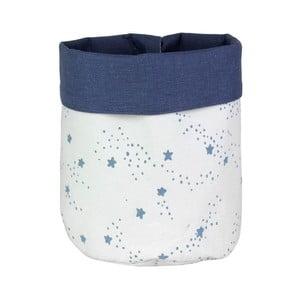 Coș cu stele albastre pentru depozitare jucării Art For Kids Stars, alb - albastru