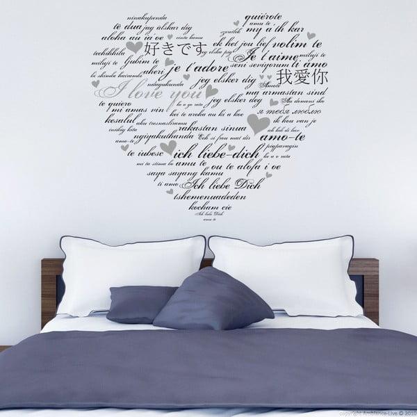 Samolepka na zeď Miluji tě, 90x60 cm