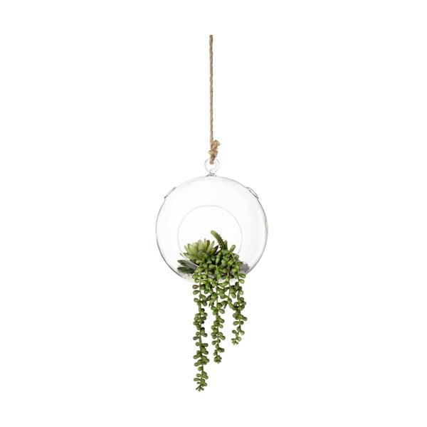 Závěsná váza s umělými květinami Bubble
