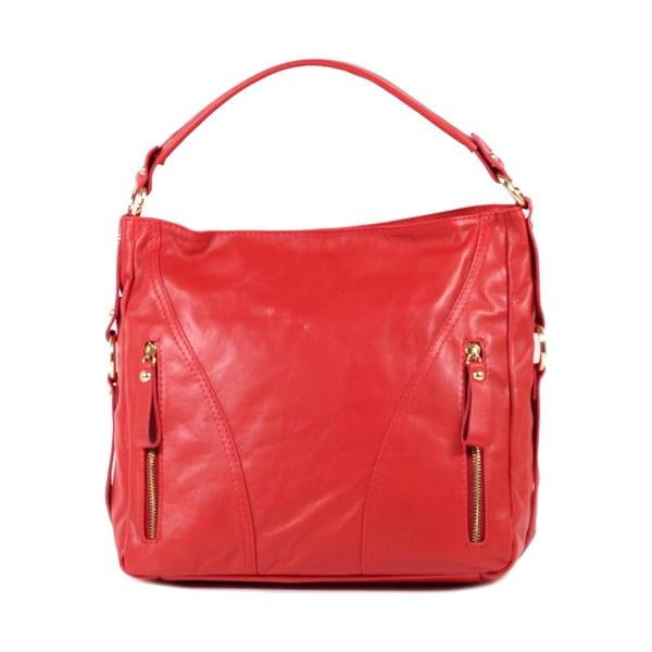Kožená kabelka Linda, červená