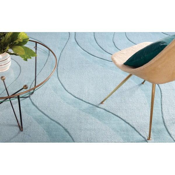 Vlněný koberec Aero Ocean, 70x140 cm