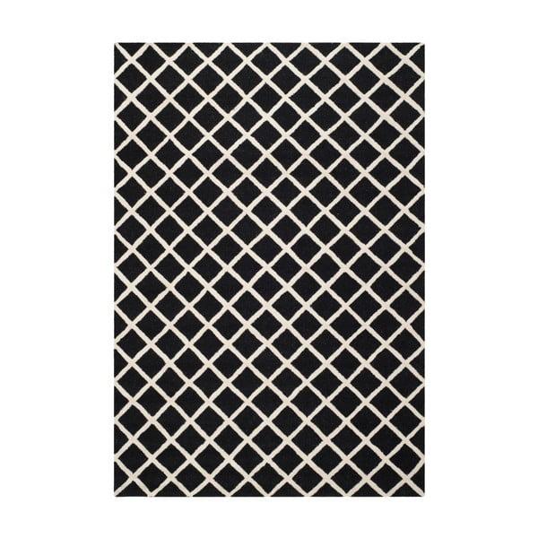 Vlněný koberec Sophie Black, 182x274 cm