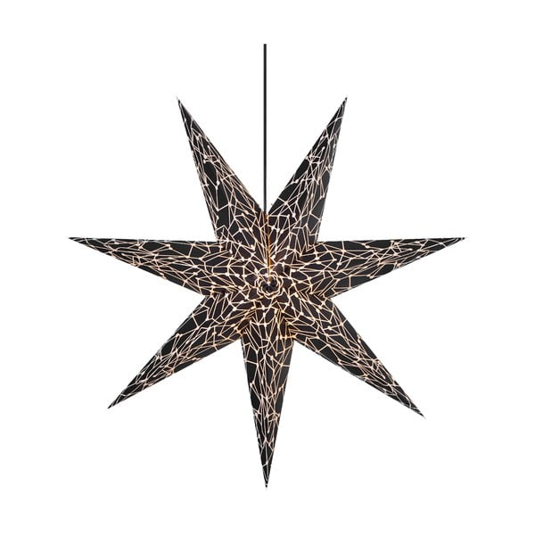 Čierna závesná svetelná dekorácia Markslöjd Karla, ø 75 cm