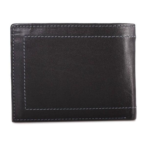 Kožená peněženka Lois Black, 11x8,5 cm