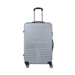 Cestovní kufr na kolečkách ve stříbrné barvě SINEQUANONE Bobby, 107l