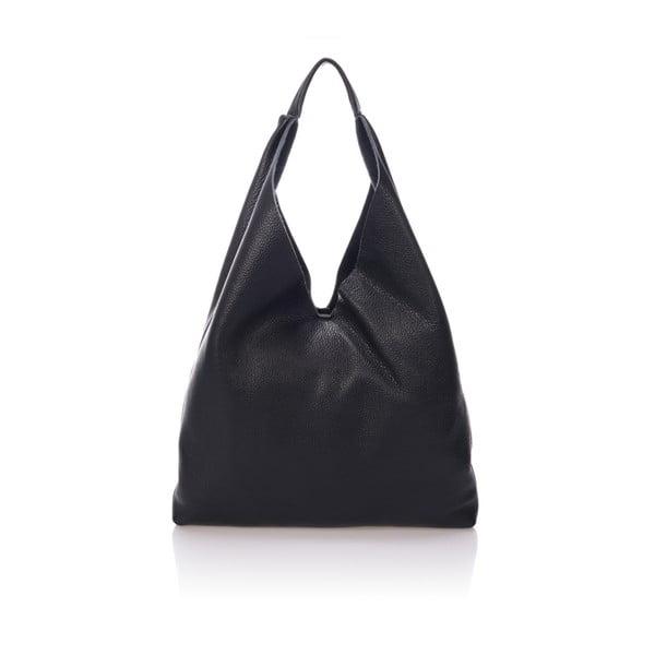 Čierna kožená kabelka Massimo Castelli Carmit