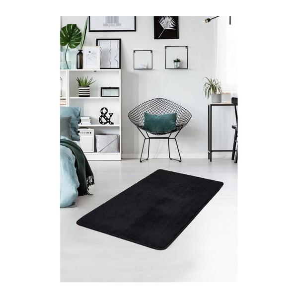 Czarny dywan Milano, 120x70 cm