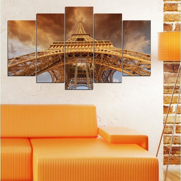 5dílný obraz Pod Eiffelovou věží