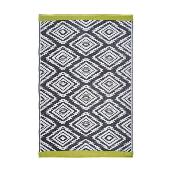 Šedý oboustranný venkovní koberec z recyklovaného plastu Fab Hab Valencia Grey, 120 x 180 cm