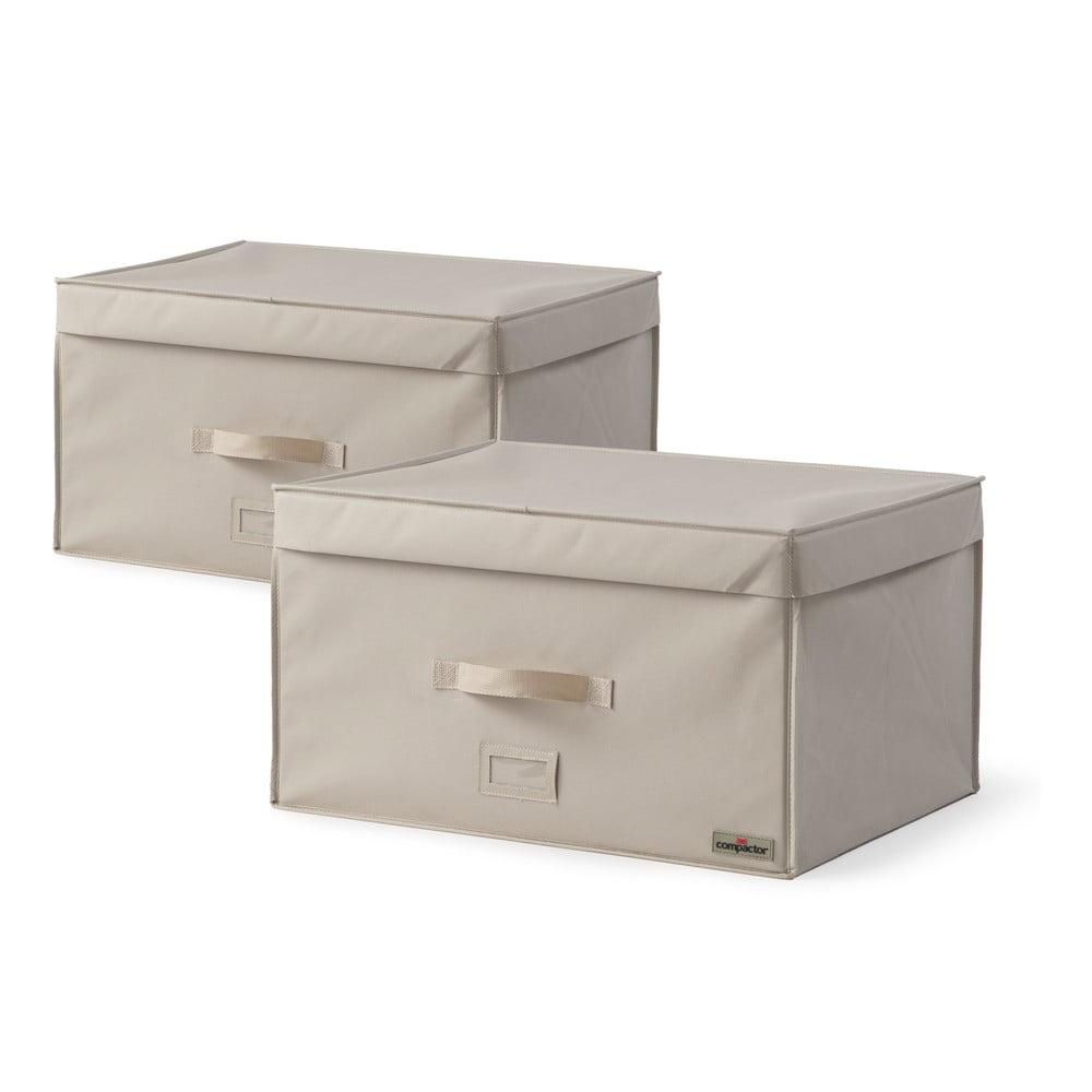 Sada 2 úložných boxů na oblečení Compactor Family Trunks, 150 l