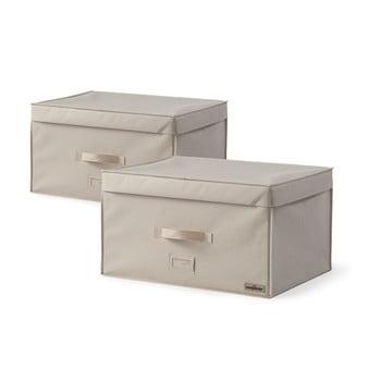 Set 2 cutii de depozitare pentru haine Compactor Family Trunks, 150 l imagine