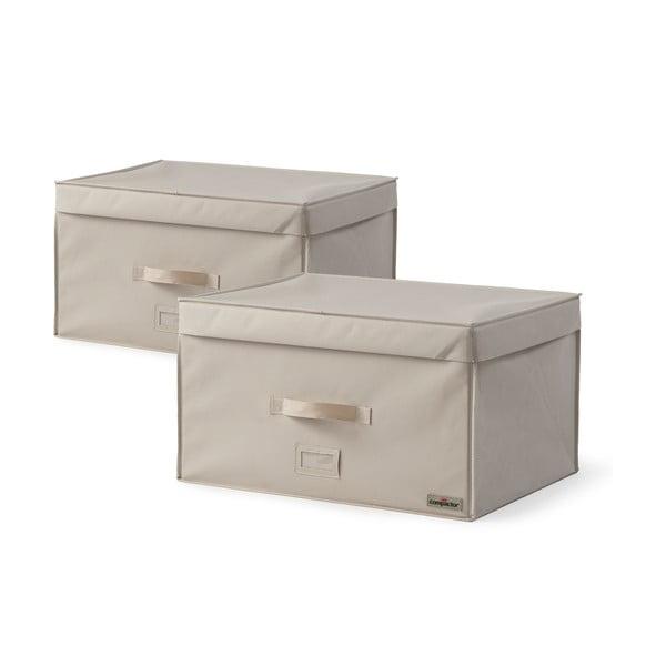 Sada 2 úložných boxov na oblečenie Compactor Family Trunks, 150 l