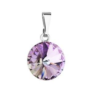 Fialový přívěsek se Swarovski krystalem Je Veux Ranro, 20 mm