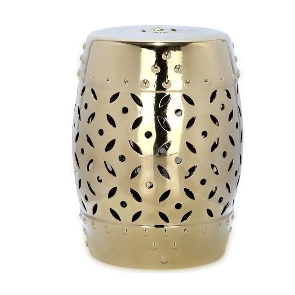 Odkládací stolek vhodný do exteriéru ve zlaté barvě Safavieh Cyprus