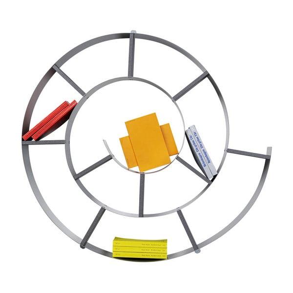 Černá nástěnná knihovna Kare Design Snail