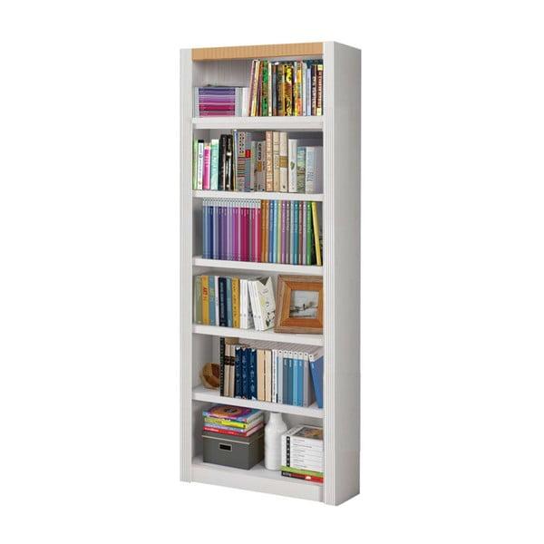 Bílá knihovna z borovicového dřeva Støraa Baylee, šířka 82,5cm
