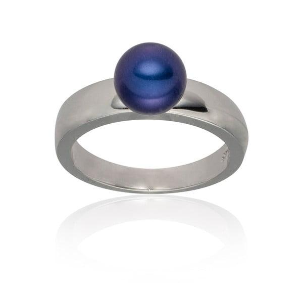 Perlový prsten Jeanne Dark Blue, vel. 52