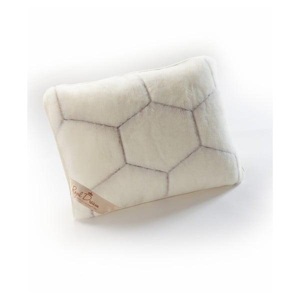 Vlněný polštář Royal Dream Cashmere Hex,50x60cm