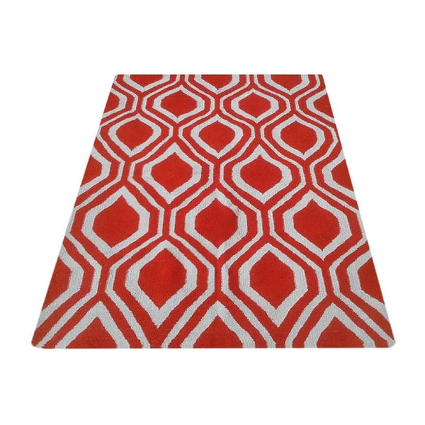 Vlněný koberec Kilim 65 Orange, 160x220 cm