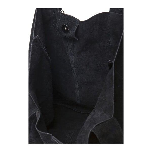 Černá kožená kabelka Ficus