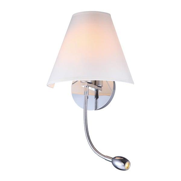 Nástěnné svítidlo s detaily ve stříbrné barvě SULION Lola