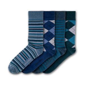 Sada 4 párů ponožek Black & Parker London Soho, vel.37-43