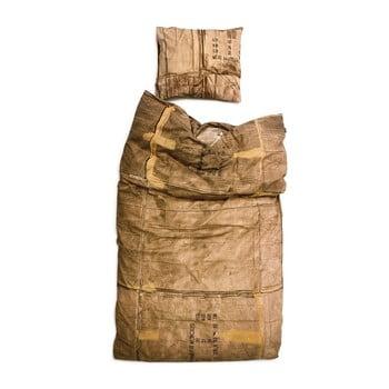 Lenjerie de pat de o persoană, din bumbac Snurk Le-Clochard, 140 x 200 cm de la Snurk