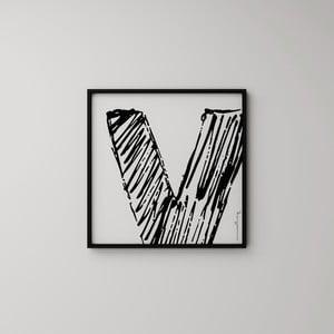 Plakát Litera V, 50x50 cm