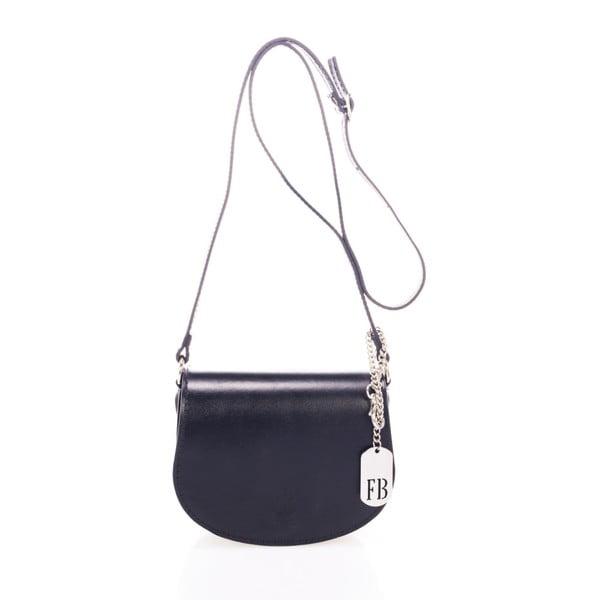 Čierna kabelka z pravej kože Federica Bassi Bubo
