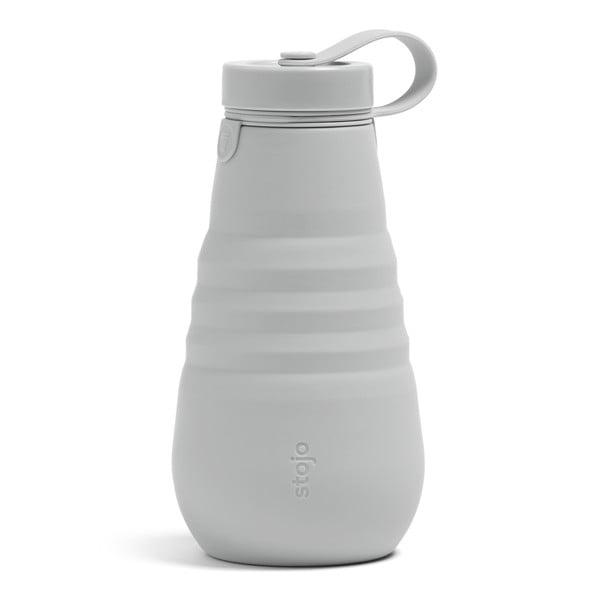 Šedá skládací láhev Stojo Bottle Cashmere, 590 ml
