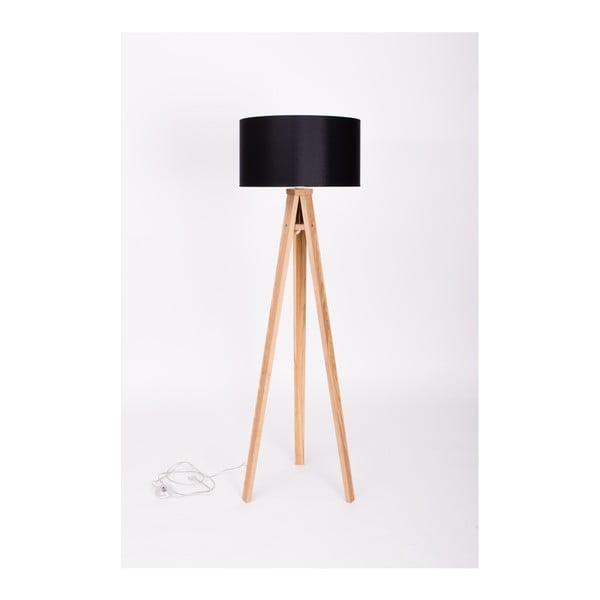 Černá stojací lampa Ragaba