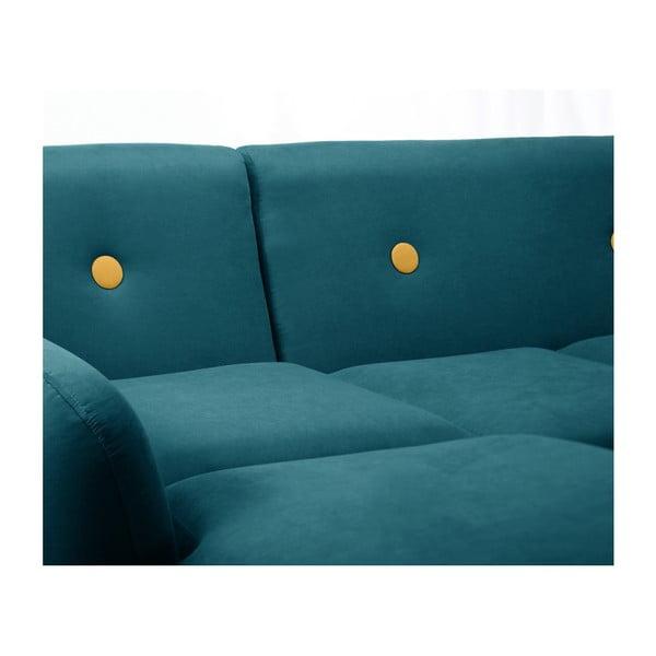 Canapea cu șezlong pe partea stângă Scandi by Stella Cadente Maison, verde închis